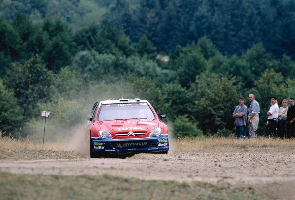 2003 World Rally ChampionshipRally Deutschland, Germany. 25th - 27th July 2003.Carlos Sainz / Marc Martin (Citroen Xsara), action.World Copyright: McKlein/LAT Photographicref: 35mm Image A14
