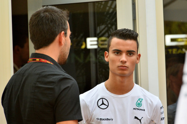 Pascal Wehrlein (GER) Mercedes AMG F1 Reserve Driver. Formula One World Championship, Rd14, Singapore Grand Prix, Marina Bay Street Circuit, Singapore, Race Day, Sunday 21 September 2014.