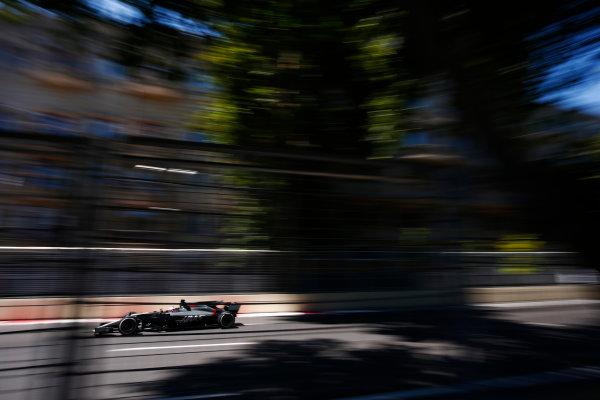 Baku City Circuit, Baku, Azerbaijan. Saturday 24 June 2017. Romain Grosjean, Haas VF-17.  World Copyright: Andy Hone/LAT Images ref: Digital Image _ONY0080