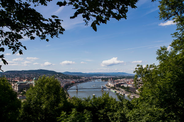 Hungaroring, Budapest, Hungary. Monday 5 June 2017. A view of the city from Citadella. World Copyright: Zak Mauger/LAT Images ref: Digital Image _56I0516