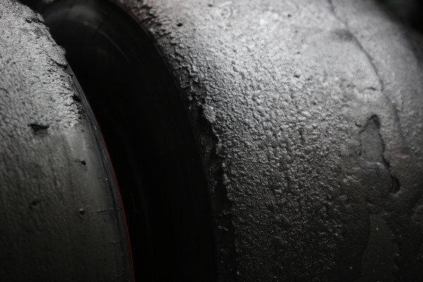 Marina Bay Circuit, Singapore. Sunday 21 September 2014. Worn tyres after the race. World Copyright: Charles Coates/LAT Photographic. ref: Digital Image _N7T5501