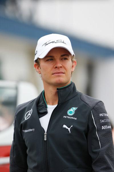 Interlagos, Sao Paulo, Brazil. Friday 7 November 2014. Nico Rosberg, Mercedes AMG. World Copyright: Charles Coates/LAT Photographic. ref: Digital Image _N7T7271