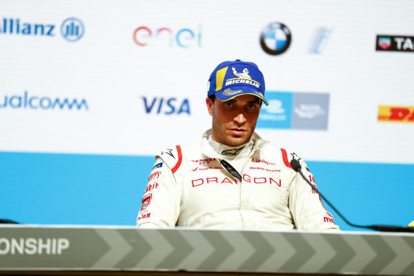 Jérôme d'Ambrosio (BEL), Dragon Racing, Penske EV-, in the post race press conference.