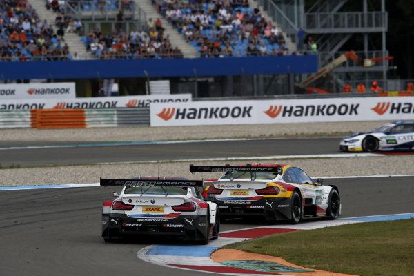 Timo Glock, BMW Team RMG, BMW M4 DTM, Sheldon van der Linde, BMW Team RBM, BMW M4 DTM.