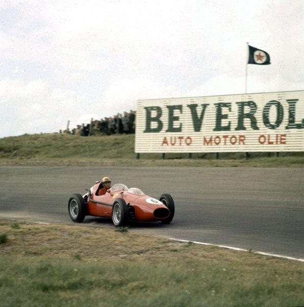1958 Dutch Grand Prix.Zandvoort, Holland.23-25 May 1958.Luigi Musso (Ferrari Dino 246) 7th position.Ref-3/0021.World Copyright - LAT Photographic