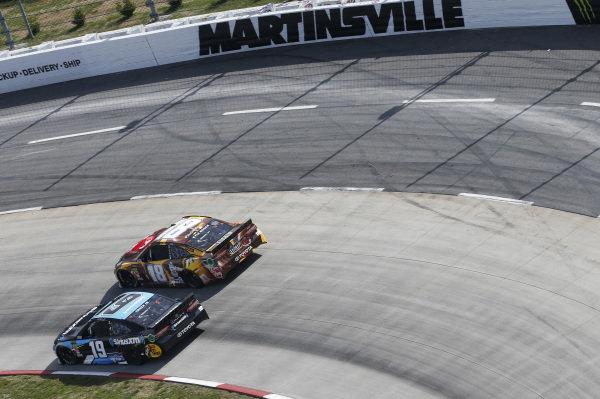 #19: Martin Truex Jr., Joe Gibbs Racing, Toyota Camry Sirius XM #18: Kyle Busch, Joe Gibbs Racing, Toyota Camry M&M's Chocolate Bar