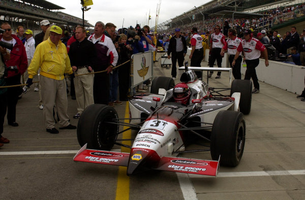 Al Unser,Jr. pulls away from tech to qualify.84th. Indianapolis 500, Indy Racing Northern Light Series, Indianapolis Motor Speedway, Speedway Indiana,USA 28 May,2000 -F Peirce Williams 2000 LAT PHOTOGRAPHIC