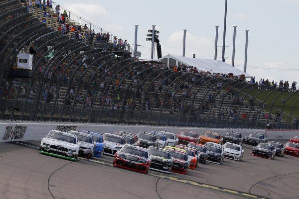 #20: Christopher Bell, Joe Gibbs Racing, Toyota Supra Ruud and #00: Cole Custer, Stewart-Haas Racing, Ford Mustang FIELDS green flag start