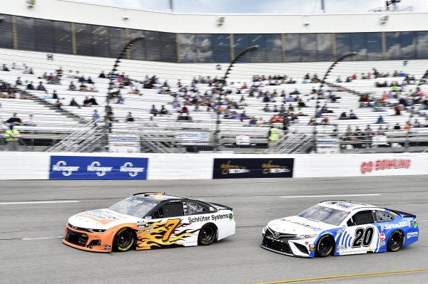 #7: Corey LaJoie, Spire Motorsports, Chevrolet Camaro Schluter Systems, #20: Christopher Bell, Joe Gibbs Racing, Toyota Camry Sirius XM