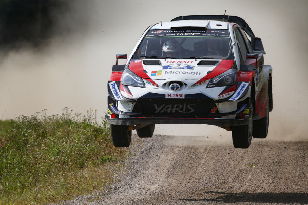 Jari Matti Latvala jumping in the dust on Rally Finland
