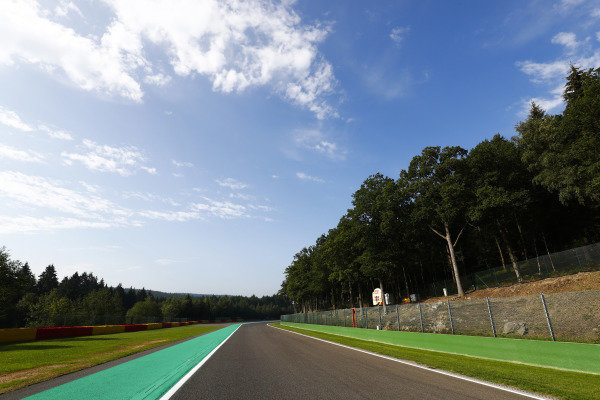 A straight on the back of the circuit.