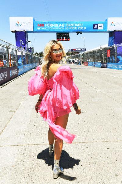 Singer Rita Ora on the grid