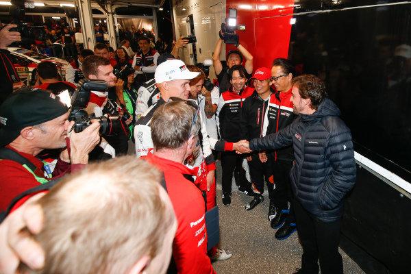 Fernando Alonso (ESP), meets Ott Tänak (EST), Toyota Gazoo Racing WRT, Toyota Yaris WRC 2019