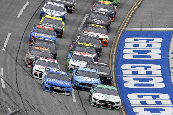 #22: Joey Logano, Team Penske, Ford Mustang MoneyLion and #37: Ryan Preece, JTG Daugherty Racing, Chevrolet Camaro Kroger