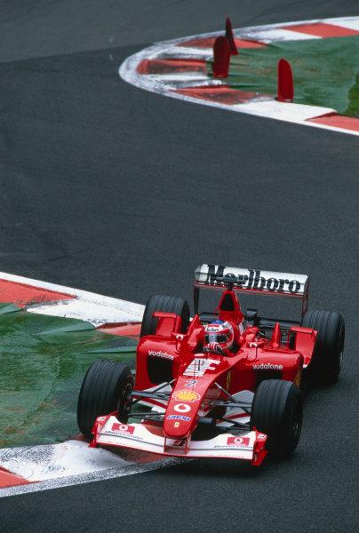 2002 Belgian Grand Prix.Spa-Francorchamps, Belgium. 30/8-1/9 2002.Rubens Barrichello (Ferrari F2002).Ref-02 BEL 41.World Copyright - Lorenzo Bellanca/LAT Photographic