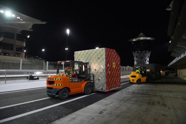 Forklift and Ferrari freight