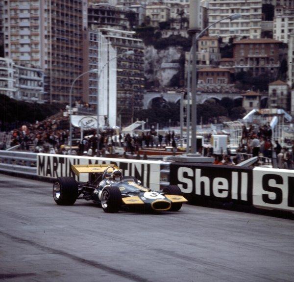 1970 Monaco Grand Prix.Monte Carlo, Monaco.7-10 May 1970.Jack Brabham (Brabham BT33 Ford) 2nd position.Ref-3/4037Y.World Copyright - LAT Photographic