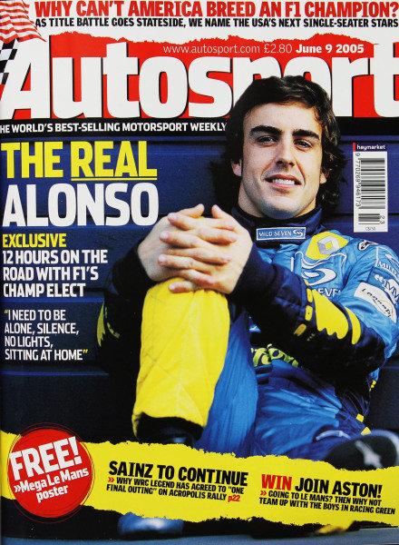 Cover of Autosport magazine, 9th June 2005