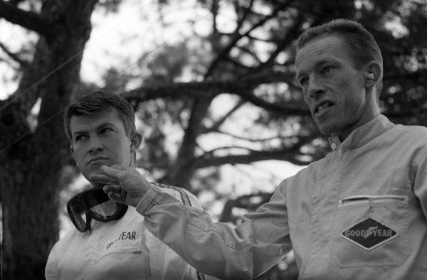 Honda teammates Ronnie Bucknum and Richie Ginther.