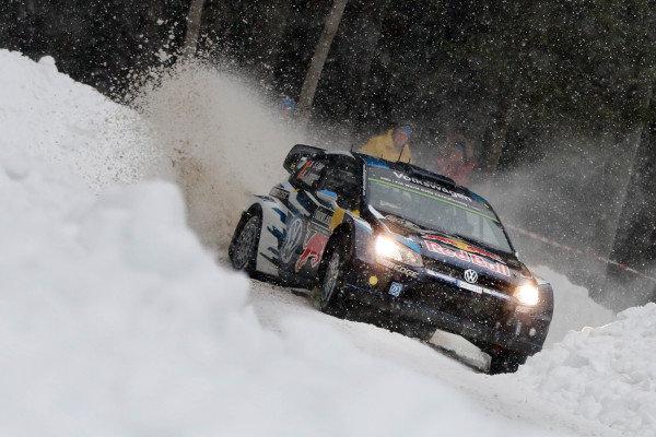 Sebastien Ogier (FRA) / Julien Ingrassia (FRA), Volkswagen Polo R WRC at World Rally Championship, Rd2, Rally Sweden, Day One, Karlstad, Sweden, 13 February 2015.