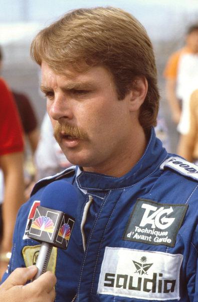 Las Vegas, Nevada, USA.23-25 September 1982.New World Champion Keke Rosberg (Williams Ford).Ref-82 LV 05.World Copyright - LAT Photographic