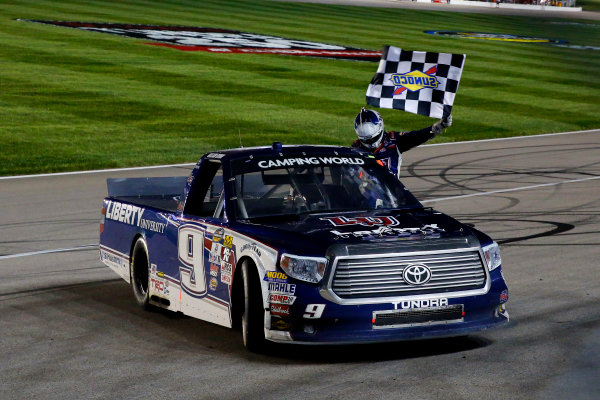 5-6 May, 2016, Kansas City, Kansas USA William Byron celebrates his win  ?2016, Russell LaBounty LAT Photo USA