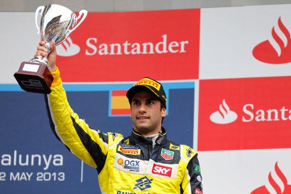 2013 GP2 Series. Round 3.  Circuit de Catalunya, Barcelona Spain. 12th May 2013. Sunday Race. Felipe Nasr (BRA, Carlin). World Copyright: Alastair Staley/GP2 Series Media Service. Ref: _A8C4248