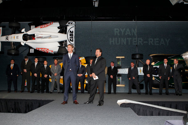 6 December, 2012, Indianapolis, Indiana USA Ryan Hunter-Reay and team.(c)2012, Russell LaBounty LAT Photo USA .