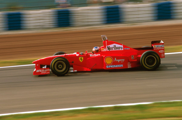 Barcelona, Spain.23-25 May 1997.Michael Schumacher (Ferrari F310B) 4th position.Ref-97 ESP 04.World  Copyright - LAT Photographic