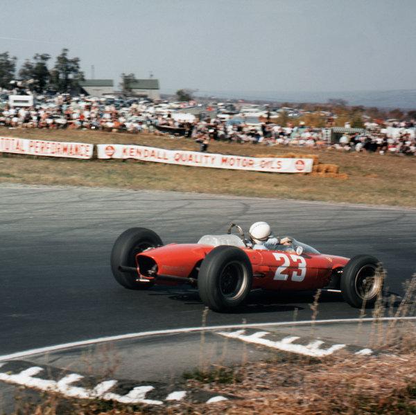 Watkins Glen, New York, USA.4-6 October 1963.John Surtees (Ferrari Dino 156).Ref-3/1091 24World Copyright - LAT Photographic