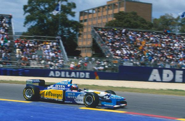 Adelaide, Australia. 10-12 November 1995. Michael Schumacher, Benetton B195 Renault, retired, action. Ref-95 AUS 62 World Copyright - LAT Photographic