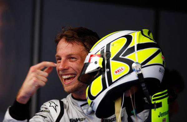 Sepang, Kuala Lumpur, Malaysia4th April 2009Jenson Button, Brawn GP BGP001 Mercedes celebrates in Parc Ferme. Helmets.World Copyright: Steven Tee/LAT Photographicref: Digital Image _I4V1991