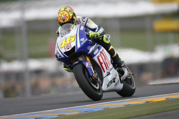 Le Mans, France. 16th - 17th May 2009.Valentino Rossi Fiat Yamaha Team.World Copyright: Martin Heath/LAT Photographicref: BPI_Moto 89a3