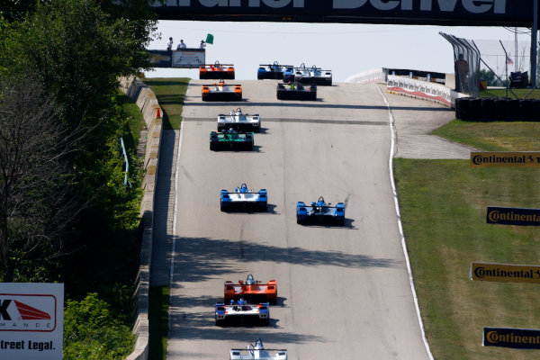 8-10 August 2014, Elkhart Lake, Wisconsin USA The field takes the green flag ?2014, Phillip Abbott LAT Photo USA