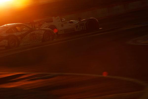 2014 Le Mans 24 Hours. Circuit de la Sarthe, Le Mans, France. Thursday 12 June 2014. Thomas Kimber-Smith (GBR), Chris Dyson (USA), Matthew McMurray (USA) - Greaves Motorsport, Zytek Z11SN-Nissan & Erik Maris (FRA), Jean-Marc Merlin (FRA), Eric Helary (FRA) - IMSA Performance Matmut, Porsche 911 GT3 RSR  Photo: Sam Bloxham/LAT ref: Digital Image _G7C4001