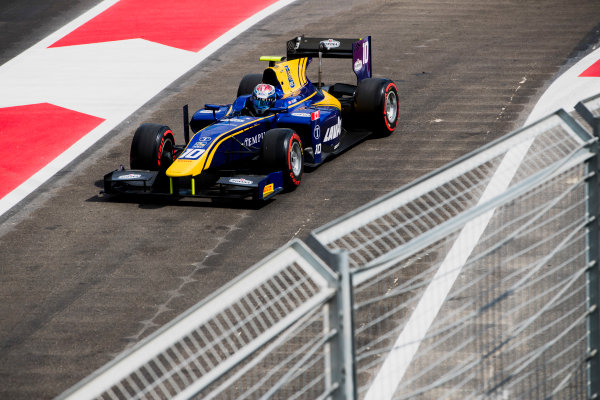 2017 FIA Formula 2 Round 4. Baku City Circuit, Baku, Azerbaijan. Friday 23 June 2017. Nicholas Latifi (CAN, DAMS)  Photo: Zak Mauger/FIA Formula 2. ref: Digital Image _56I6911