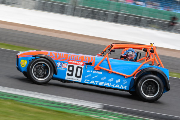 2017 Avon Tyres Caterham Seven 420-R Championship, Silverstone, 11th-12th June 2017, Jack Brown Caterham 420R. World copyright. JEP/LAT Images