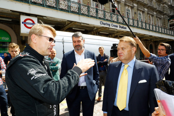 London, United Kingdom.  Wednesday 12 July 2017. Former 2 times World Champion Mika Hakkinen. World Copyright: Steven Tee/LAT Images  ref: Digital Image _O3I8809