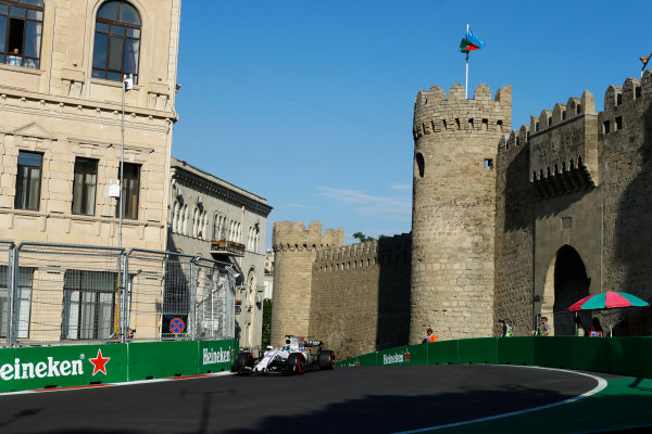 Baku City Circuit, Baku, Azerbaijan. Friday 23 June 2017. Felipe Massa, Williams FW40 Mercedes. World Copyright: Steven Tee/LAT Images ref: Digital Image _R3I2455