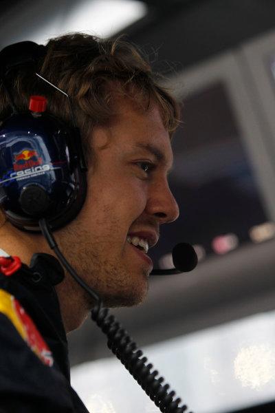 Suzuka Circuit, Suzuka, Japan. 9th October 2010. Sebastian Vettel, Red Bull Racing RB6 Renault. Portrait.  World Copyright: Andrew Ferraro/LAT Photographic ref: Digital Image _Q0C8950