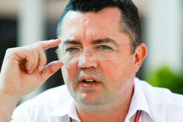 Albert Park, Melbourne, Australia. Thursday 23 March 2017. Eric Boullier, Racing Director, McLaren. World Copyright: Steven Tee/LAT Images ref: Digital Image _R3I8865