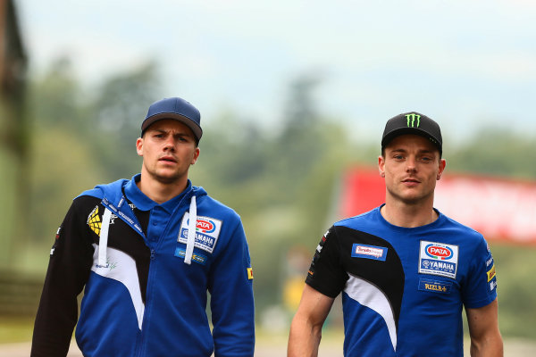 2017 Superbike World Championship - Round 5 Imola, Italy. Thursday 11 May 2017 Florian Marino, Pata Yamaha, Alex Lowes, Pata Yamaha World Copyright: Gold and Goose Photography/LAT Images ref: Digital Image 669314