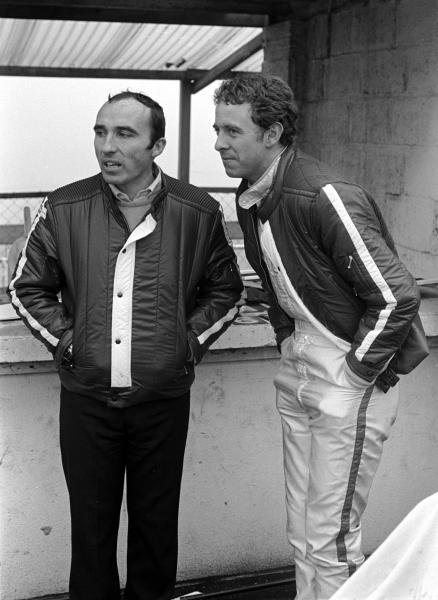 Frank Williams(GBR) Left with Piers Courage(GBR) Race of Champions, Brands Hatch, 1969