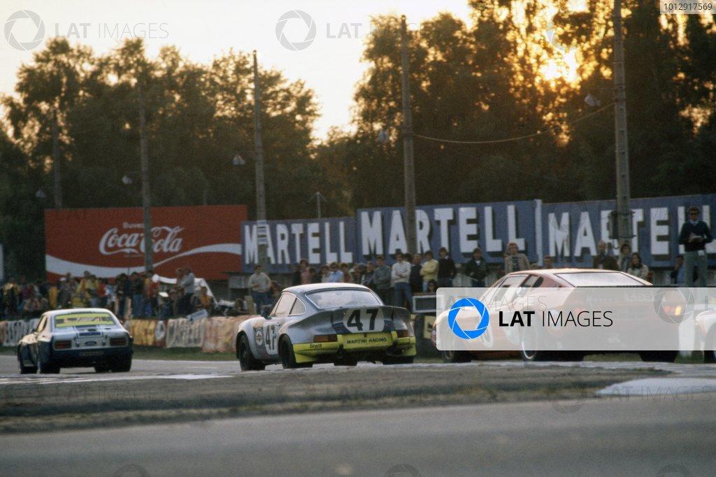 1973 Le Mans 24 hours.Le Mans, France. 9-10 June 1973.A Ford Capri 2600LV leads Reinhold Joest/Claude Haldi (Porsche Carrera) and Claude Laurent/Martial Delalande/Jacques Marche (Ligier JS2-Maserati).World Copyright: LAT PhotographicRef: 35mm transparency 73LM12