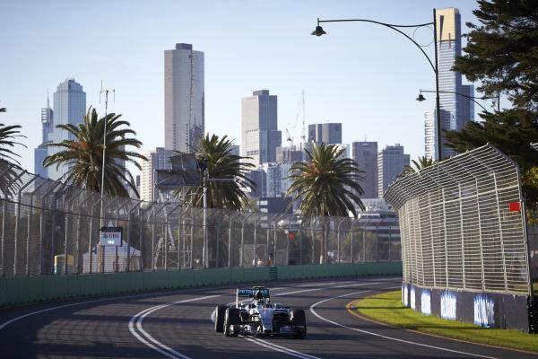 Albert Park, Melbourne, Australia. Friday 13 March 2015. Nico Rosberg, Mercedes F1 W06 Hybrid. World Copyright: Steve Etherington/LAT Photographic. ref: Digital Image SNE29112
