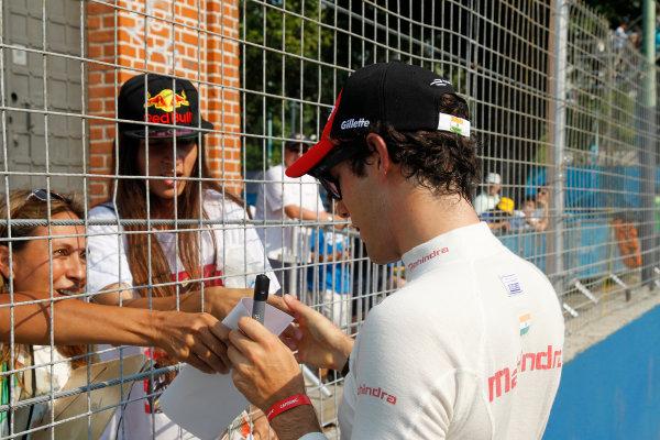 Practice Session 1. Bruno Senna (BRA)/Mahindra Racing - Renault Spark ST_01  FIA Formula E World Championship. Buenos Aires, Argentina, South America. Saturday 10 January 2015.  Copyright: Adam Warner / LAT / FE ref: Digital Image _A8C1405