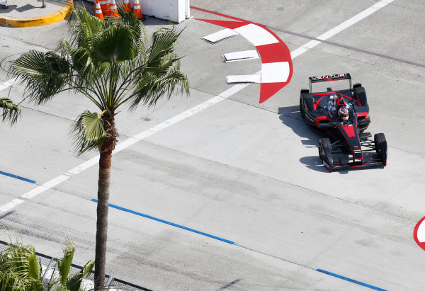 2014/2015 FIA Formula E Championship. Long Beach ePrix, Long Beach, California, United States of America. Friday 3 April 2015 Stephane Sarrazin (FRA)/Venturi Racing - Spark-Renault SRT_01E  Photo: Jed Leicester/LAT/Formula E ref: Digital Image _JL20223