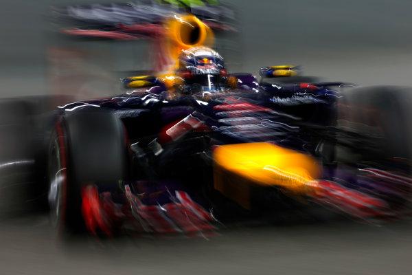 Yas Marina Circuit, Abu Dhabi, United Arab Emirates. Saturday 22 November 2014. Daniel Ricciardo, Red Bull Racing RB10 Renault. World Copyright: Andrew Ferraro/LAT Photographic. ref: Digital Image _FER0510