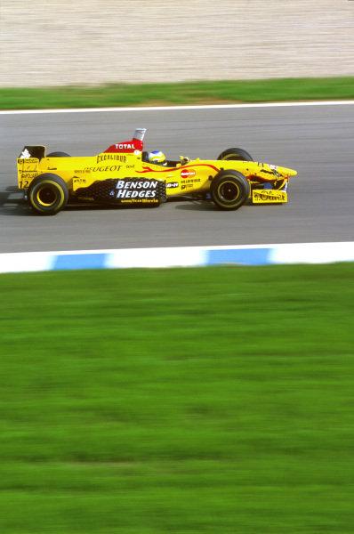 Jerez, Spain.24-26 October 1997.Giancarlo Fisichella (Jordan 197 Peugeot) 11th position.Ref-97 EUR 25.World Copyright - LAT Photographic