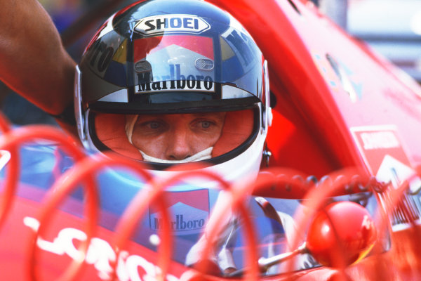 1986 Mexican Grand Prix  Mexico City, Mexico. 9-12th October 1986.  Stefan Johansson, Ferrari F1/86.  Ref: 86MEX03. World copyright: LAT Photographic
